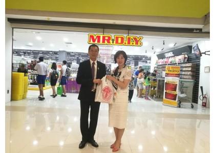 泰中侨商联合会会长邝锦荣亲临MR.DIY参观指导