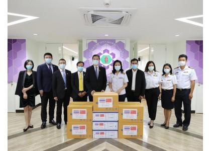 泰中侨商联合会邝锦荣主席率团访问泰国工业区管理局并捐赠防疫物资