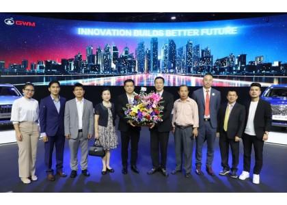 泰中侨商联合会主席邝锦荣博士率团参观长城汽车曼谷国际车展
